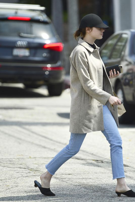 EMMA STONE Out in Los Angeles 04/03/2019