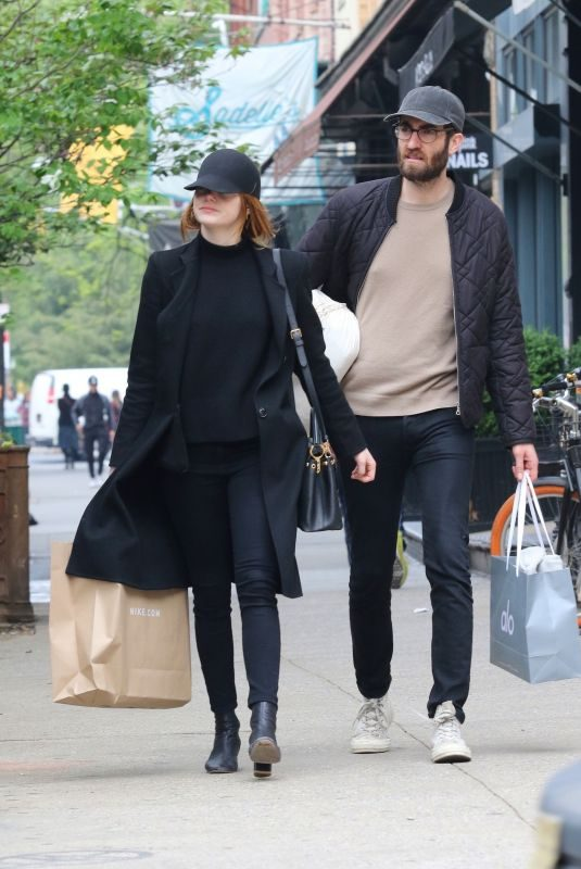 EMMA STONE Out Shopping in New York 04/30/2019