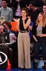 EMMY ROSSUM at Detroit Pistons vs New York Knicks Game at Madison Square Garden 04/10/2019
