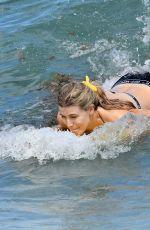 EUGENIE BOUCHARD in Bikini on the Beach in Miami 04/12/2019