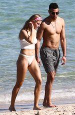 EUGENIE BOUCHARD in Bikini on the Beach in Miami 04/21/2019
