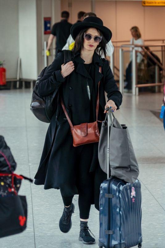 EVA GREEN at Heathrow Airport in London 04/16/2019