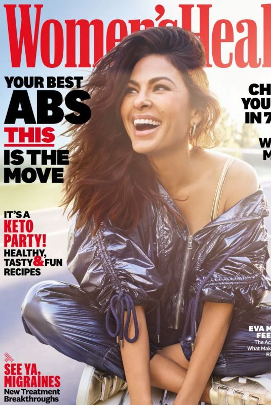 EVA MENDES on the Cover of Women's Health Magazine, May 2019