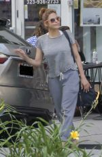 EVA MENDES Out and About in Los Angeles 04/09/2019