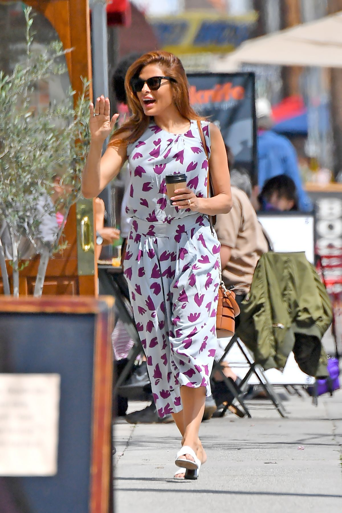 EVA MENDES Out for Coffee in Santa Monica 04/24/2019 ...
