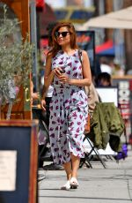 EVA MENDES Out for Coffee in Santa Monica 04/24/2019