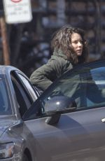 EVANGELINE LILLY on the Set of Dreamland in Montreal 04/12/2019