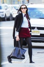 FAMKE JANSSEN Out and About in New York 04/15/2019