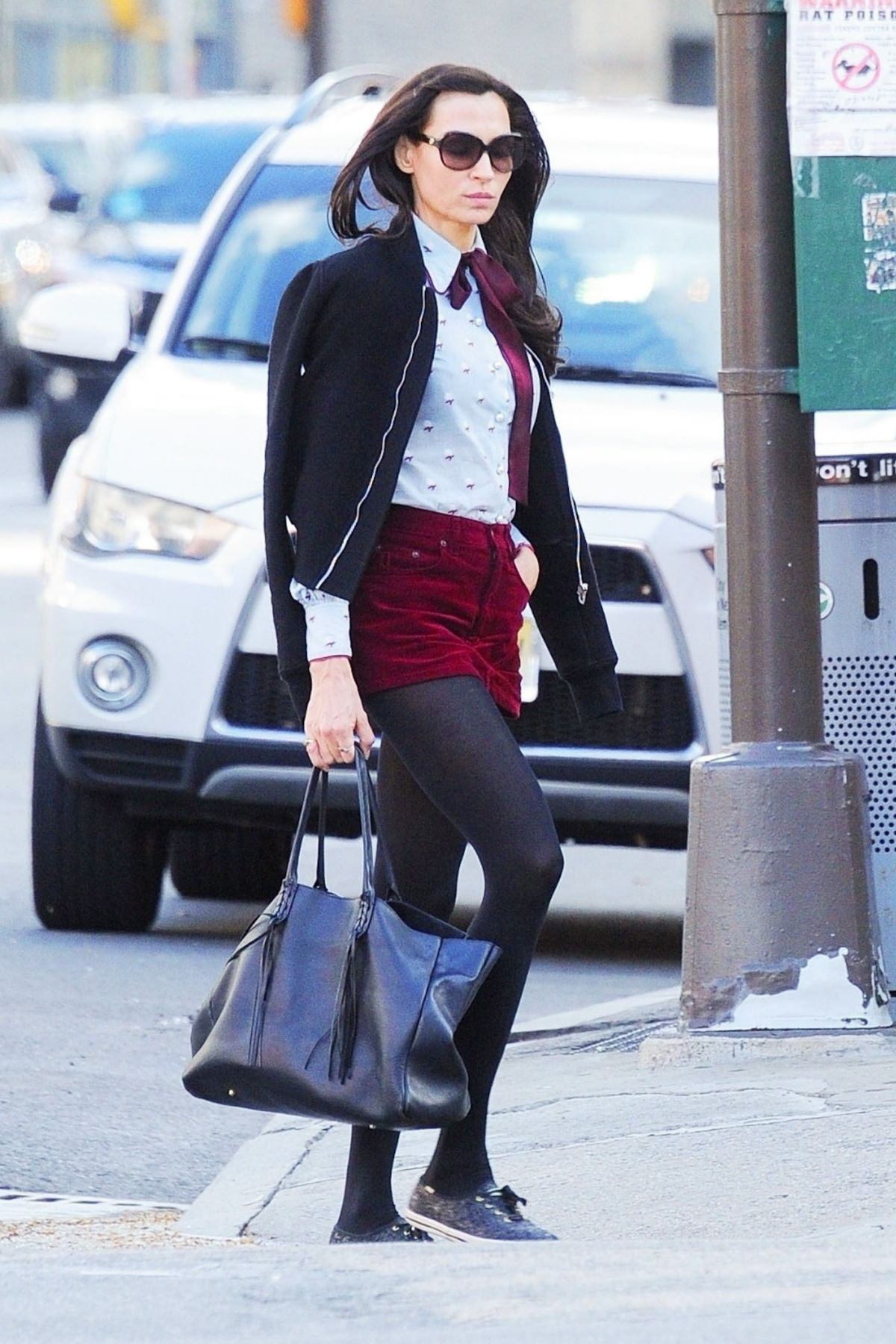 famke janssen out and about in new york 04 15 2019. Black Bedroom Furniture Sets. Home Design Ideas