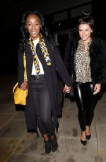 FAYE BROOKES and VICTORIA EKANOYE at Foodwell Restaurant in Manchester 04/03/2019