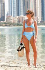 GEORGIA STEEL in Bikini at a Beach in Dubai 04/04/2019
