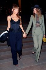 GIGI and BELLA HADID Night Out in New York 04/07/2019