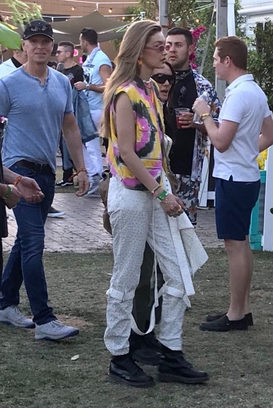 GIGI HADID at 20109 Coachella Valley Music and Arts Festival in Indio 04/12/2019