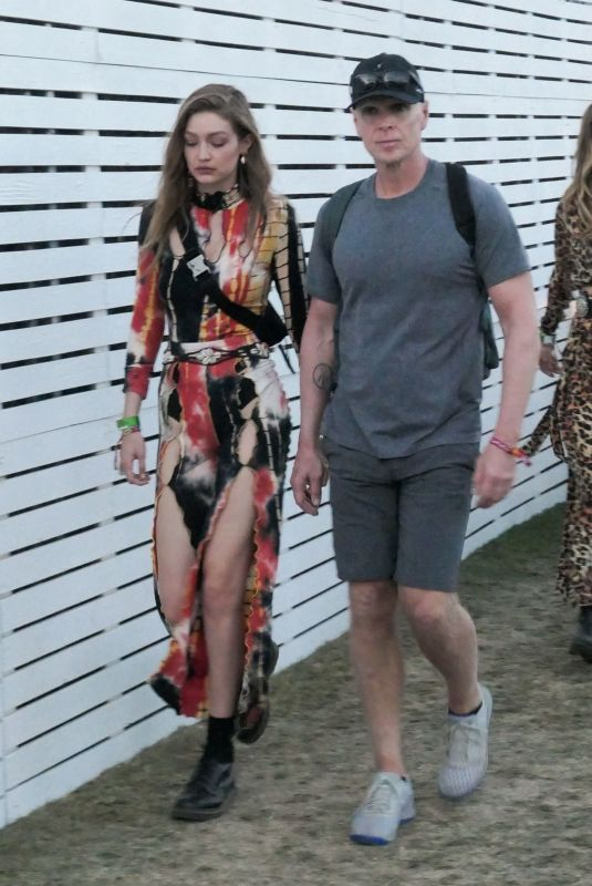 GIGI HADID at Coachella Valley Music and Arts Festival in Indio 04/13/2019