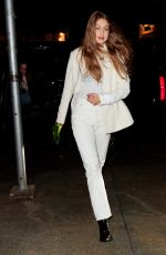 GIGI HADID Out for Dinner in New York 03/30/2019