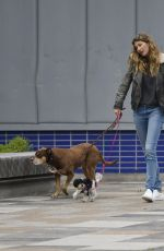 GISELE BUNDCHEN Out with Her Dogs in New York 04/14/2019