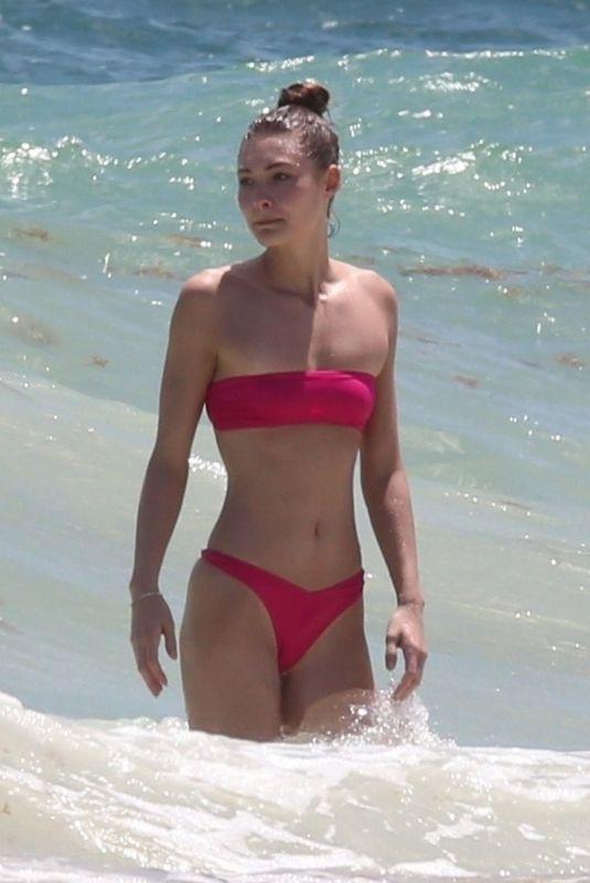 GRACE ELIZABETH in Bikini at a Beach in Tulum 03/31/2019