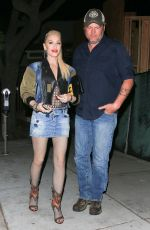 GWEN STEFANI and Blake Shelton Out for Dinner in Los Angeles 04/14/2019