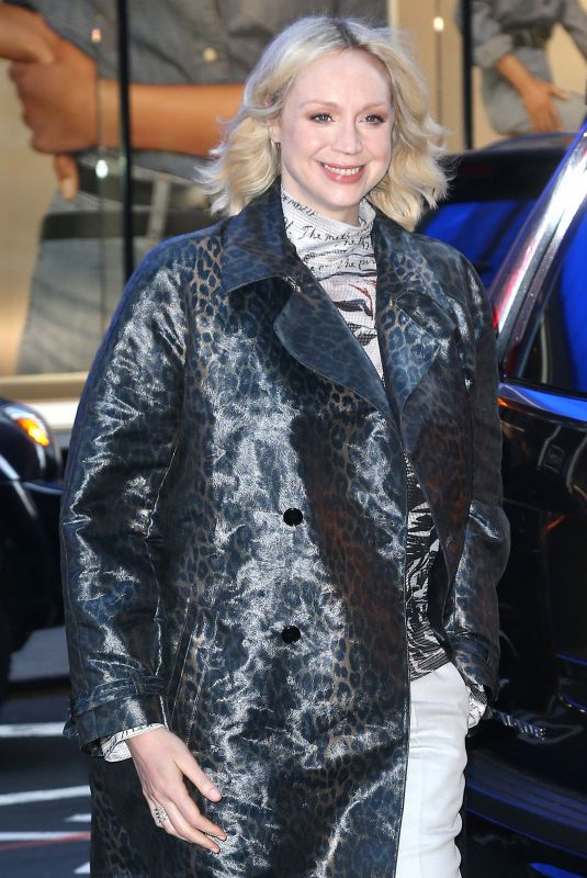 GWENDOLINE CHRISTIE Arrives at Good Morning America in New York 04/03/2019