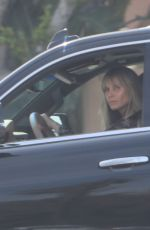 HEIDI KLUM Makeup Free Driving Out in Los Angeles 04/15/2019