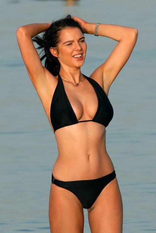 HELEN FLANAGAN in Bikini at a Beach in Dubai 04/04/2019
