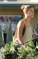HIALEY BIEBER Out for Frozen Yogurt in Laguna Beach 03/31/2019