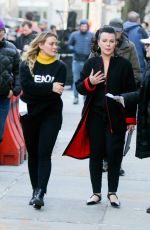 HILARY DUFF and MOLLY BERNARD on the Set of Younger in Williamsburg 04/04/2019
