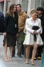 HILARY DUFF and SUTTON FOSTER on the Set of Younger in New York 04/10/2019