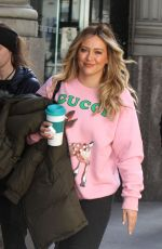 HILARY DUFF on the Set of Younger in New York 04/02/2019
