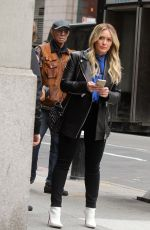HILARY DUFF on the Set of Younger in New York 04/09/2019