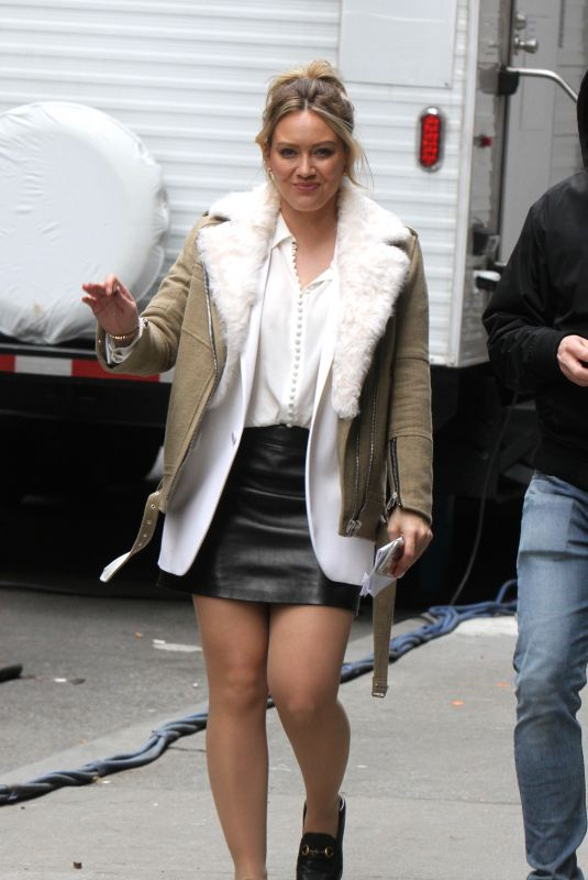 HILARY DUFF on the Set of Younger in New York 04/10/2019
