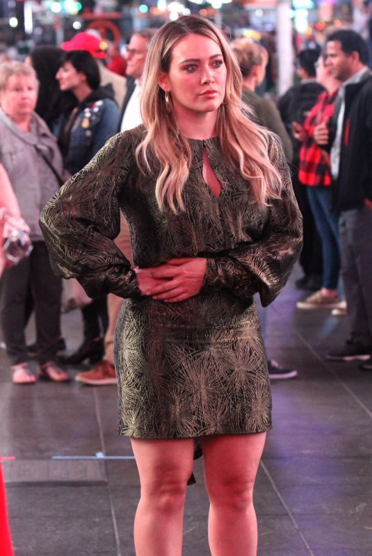 HILARY DUFF on the Set of Younger in New York 04/24/2019