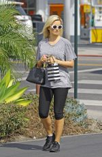 HOLLY MADISON in Leggings Out in Los Angeles 04/15/2019