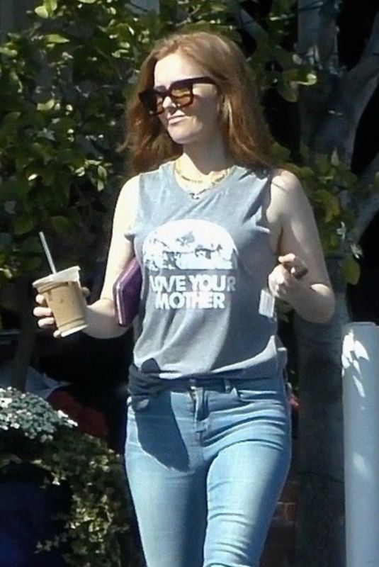 ISLA FISHER at Fred Segal in West Hollywood 04/17/2019