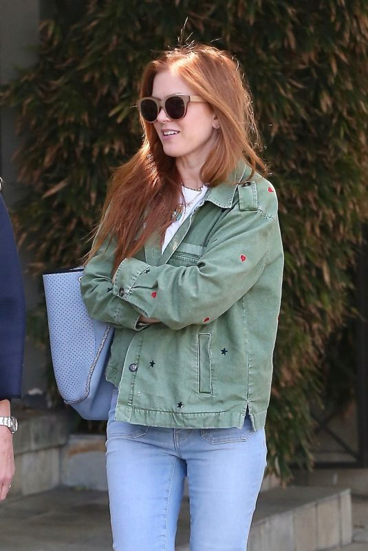 ISLA FISHER in Denim Out and About in Los Angeles 04/25/2019