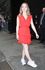 JACKIE EVANCHO Arrives at Good Morning America in New York 04/15/2019