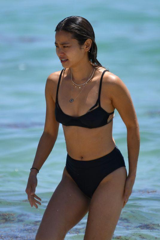 JAMIE CHUNG in Bikini at a Beach in Miami 04/27/2019