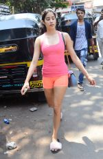 JANHVI KAPOOR Leaves a Gym in Mumbai 04/03/2019