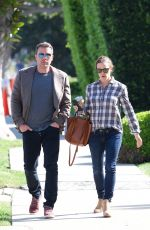 JENNIFER GARNER and Ben Affleck Out in Brentwood 04/09/2019