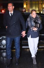 JENNIFER LOPEZ and Alex Rodriguez Out for Dinner in New York 04/27/2019