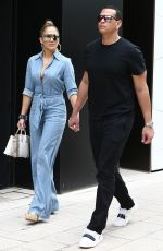JENNIFER LOPEZ and Alex Rodriguez Out for Lunch in Miami 04/20/2019