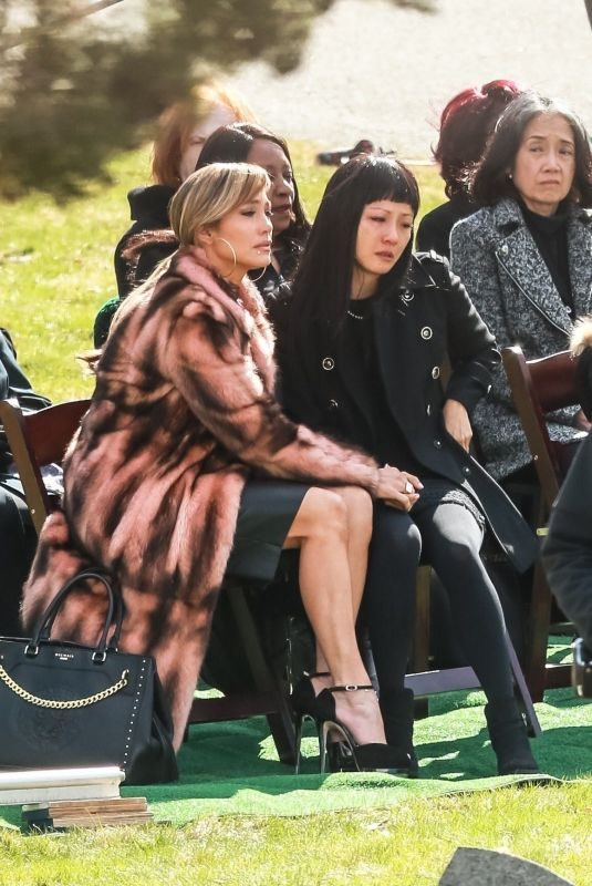 JENNIFER LOPEZ and CONSTANCE WU on the Set of Hustlers in New York 04/02/2019
