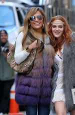 JENNIFER LOPEZ and MADELINE BREWER on the Set of Hustlers in New York 03/27/2019