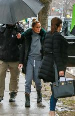 JENNIFER LOPEZ Arrives at Hustlers Set in New York 04/05/2019