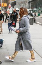 JENNIFER LOPEZ Arrives on the Set of Hustlers in New York 04/08/2019
