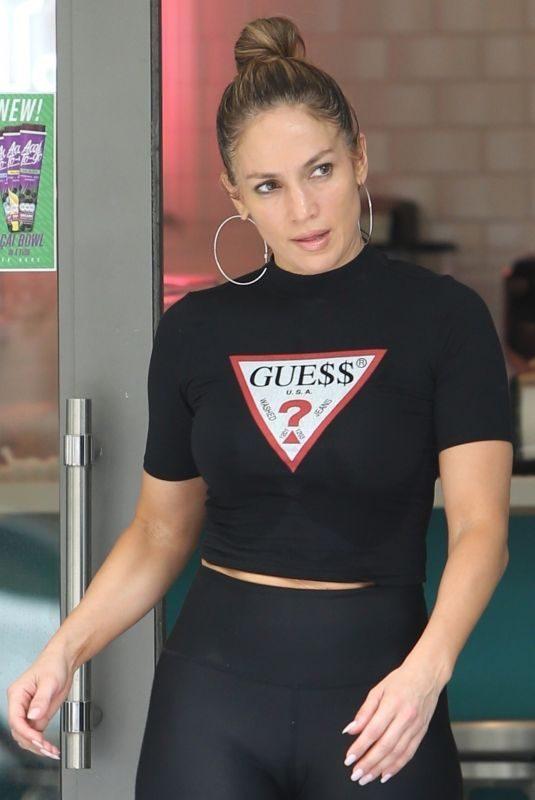JENNIFER LOPEZ at a Yoga Class in Miami 04/20/2019