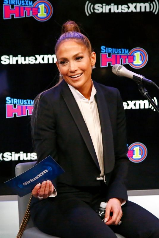 JENNIFER LOPEZ at The Morning Mash Up at SiriusXM Hits 1 Channel 04/03/2019