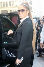 JENNIFER LOPEZ Heading to Sirius Radio in New York 04/03/2019