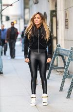 JENNIFER LOPEZ in Spandex on the Set of Hustlers in New York 04/01/2019