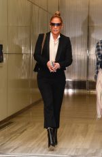 JENNIFER LOPEZ Leaves SiriusXM Studio in New York 04/03/2019